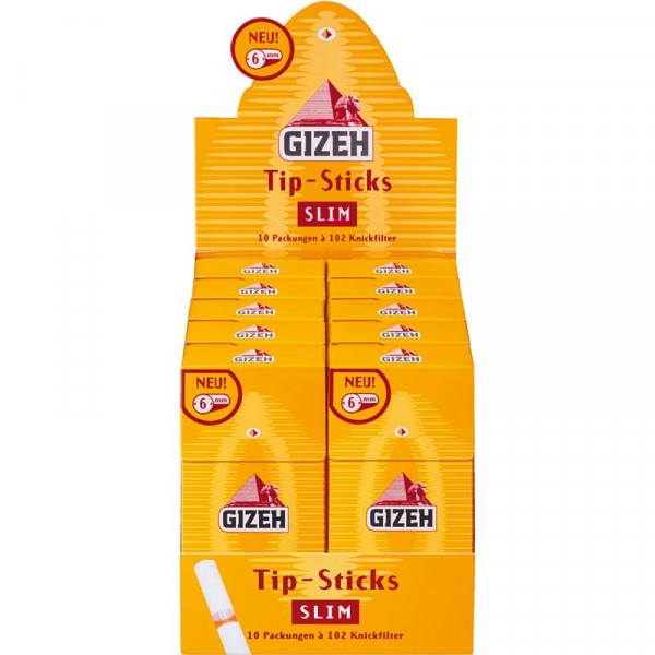 Gizeh Tip Sticks Slim 6mm