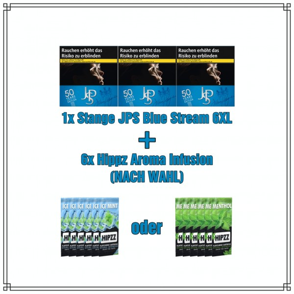 JPS x Hippz Menthol/Ice Aktionspaket (Blue Stream 6XL)