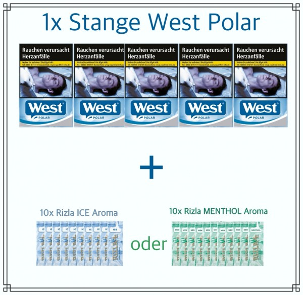 West Polar x Rizla Menthol Aktionspaket