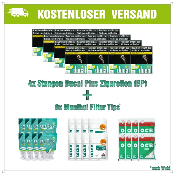 Ducal+ Green Menthol XXL Aktionspaket (Big Pack)