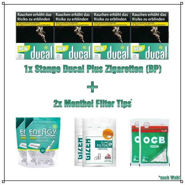 Ducal+ Green Menthol Aktionspaket (Big Pack)