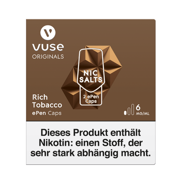 Vuse ePen Caps - Rich Tobacco
