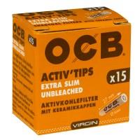 OCB ActivTips Extra Slim (6mm) Unbleached