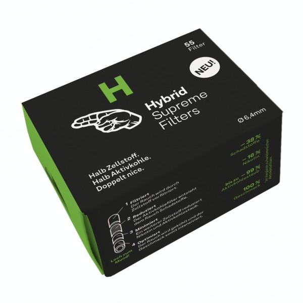Hybrid Supreme Aktivkohlefilter 6,4mm