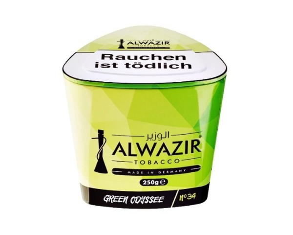 Alwazir Tobacco 250g - No. 34 Green Odyssee