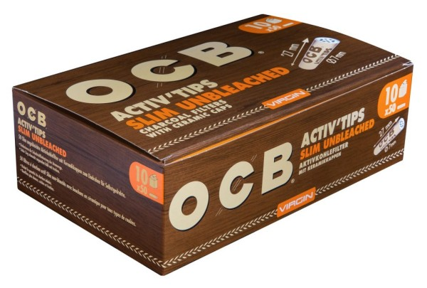 OCB ActivTips Slim 7mm Unbleached
