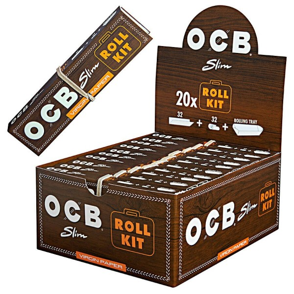 OCB Slim Roll Kit Unbleached + TIPS
