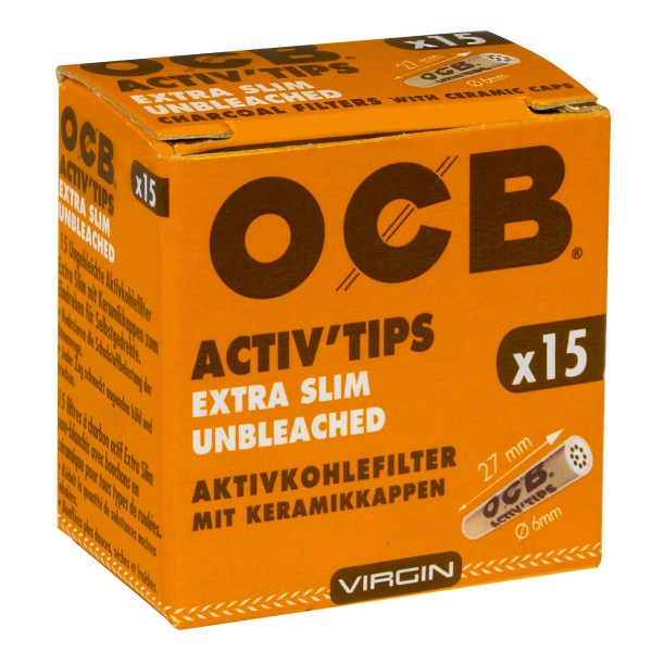 OCB ActivTips Extra Slim (6mm) Unbleached