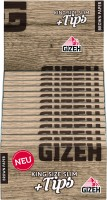 Gizeh King Size Slim+ Tips Brown Paper