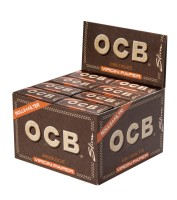 OCB UNBLEACHED ROLLS + TIPS VIRGIN PAPER