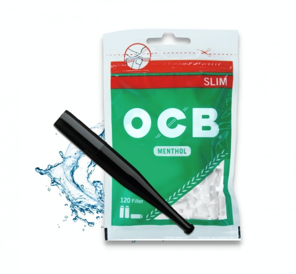 Menthol Zigarettenspitze Aktionspaket (Denicotea x OCB oder GIZEH)