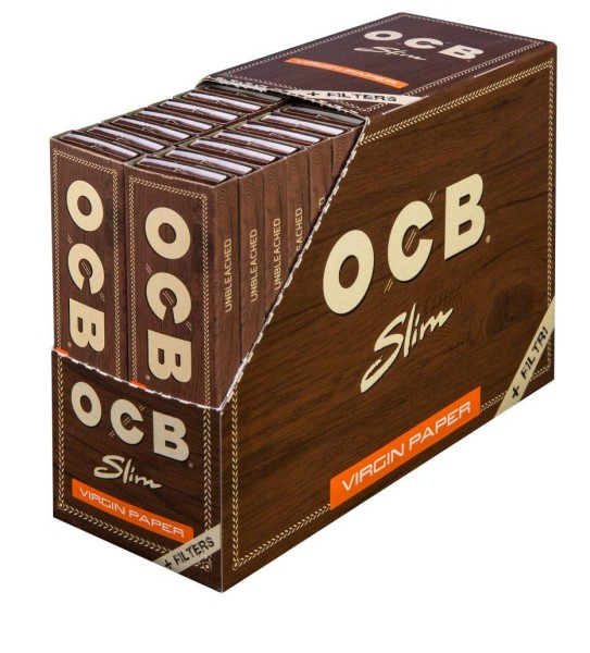 OCB Unbleached Long Slim + Tips
