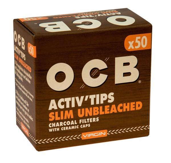 OCB ActivTips Slim (7mm) Unbleached