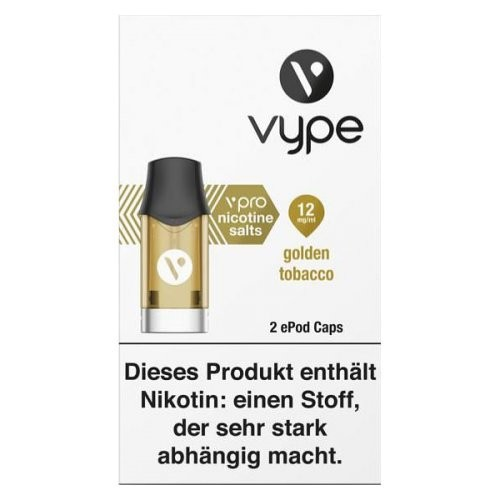Vype ePod Caps Golden Tobacco (12mg/ml)