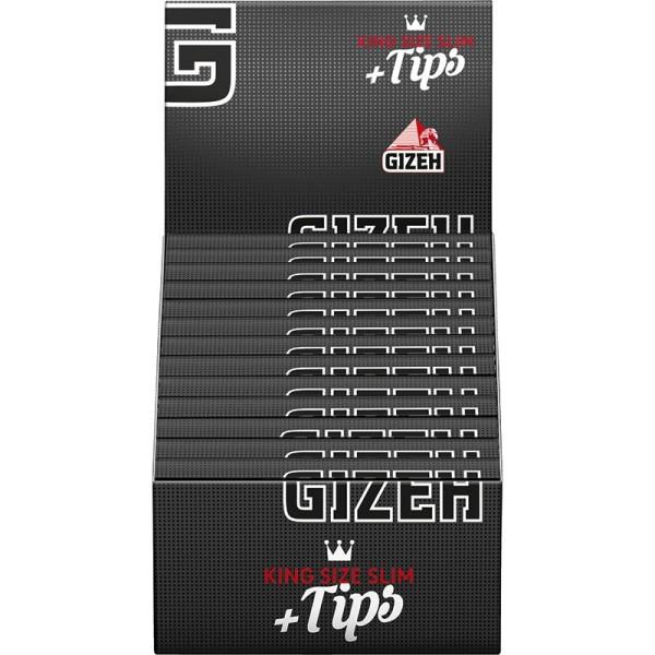 Gizeh Black King Size Slim+Tips